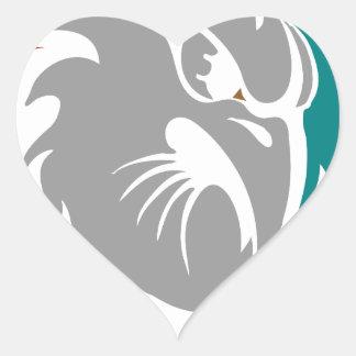 Hawk Security Protection Shield Heart Sticker