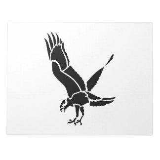 Hawk Silhouette Scratch Pads