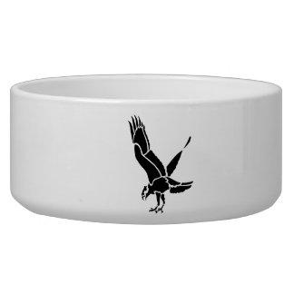 Hawk Silhouette Dog Food Bowl