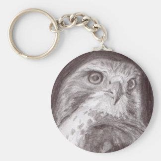 Hawk Sketch Keychain