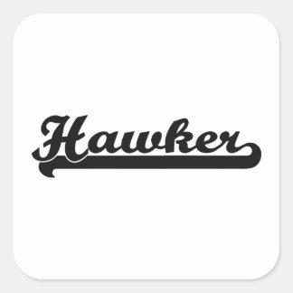 Hawker Classic Job Design Square Sticker