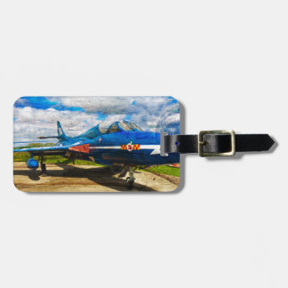 Hawker Hunter T7 aircraft on wood Travel Bag Tags
