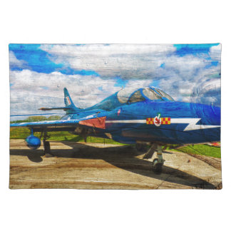 Hawker Hunter T7 aircraft on wood Placemat