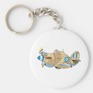 hawker hurricane basic round button keychain