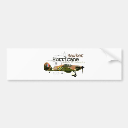 Hawker Hurricane Car Bumper Sticker