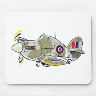 hawker hurricane caricature mouse pad