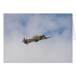 Hawker Hurricane In Flight Card