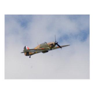 Hawker Hurricane In Flight Postcard