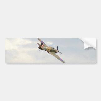 Hawker Hurricane In The Clouds Bumper Sticker