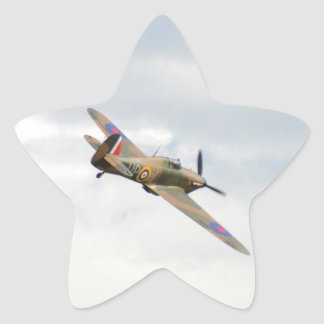 Hawker Hurricane In The Clouds Star Stickers