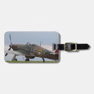 Hawker Hurricane Three Quarter View Luggage Tag