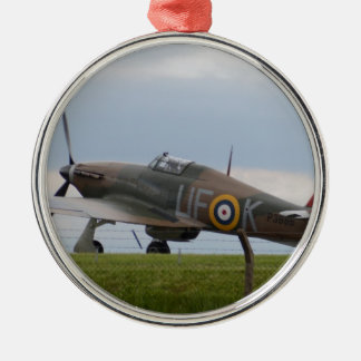 Hawker Hurricane Three Quarter View Metal Ornament