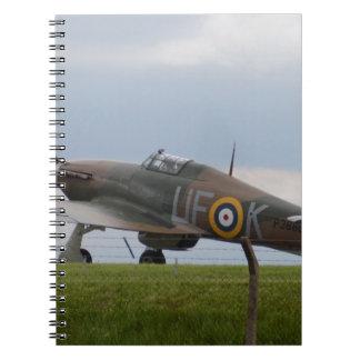 Hawker Hurricane Three Quarter View Notebook