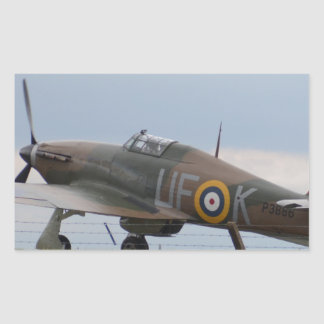 Hawker Hurricane Three Quarter View Rectangular Sticker
