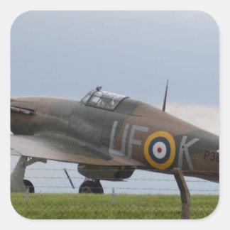 Hawker Hurricane Three Quarter View Square Sticker