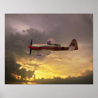 Hawker Sea Fury Poster