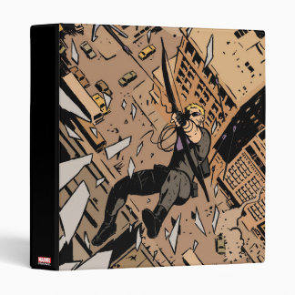 Hawkeye Falling From Window Binder