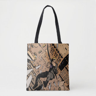 Hawkeye Falling From Window Tote Bag