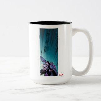 Hawkeye Firing Arrows Comic Panel Two-Tone Coffee Mug