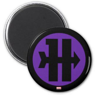 Hawkeye On Target Logo 2 Inch Round Magnet