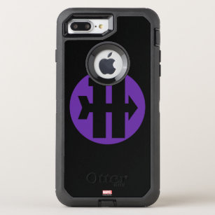 the latest 72c45 197ae Hawkeye On Target Logo OtterBox Defender iPhone 8 Plus/7 Plus Case