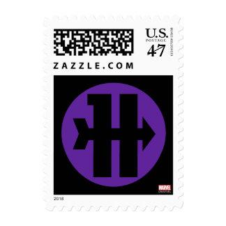 Hawkeye On Target Logo Postage