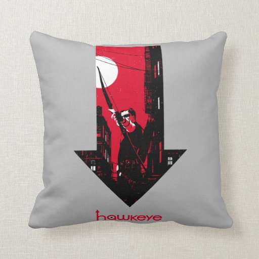 Hawkeye Red Arrow Graphic Throw Pillow Zazzle