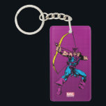 """Hawkeye Retro Character Art Keychain<br><div class=""""desc"""">Check out this vintage style Hawkeye character art as he pulls back an arrow to fire.</div>"""