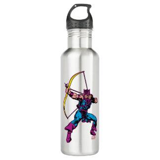 Hawkeye Retro Character Art Water Bottle