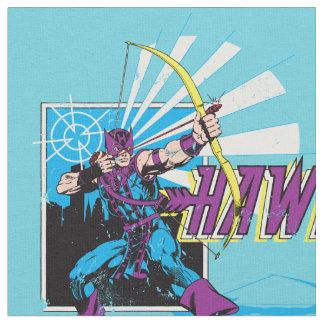 Hawkeye Retro Comic Graphic Fabric