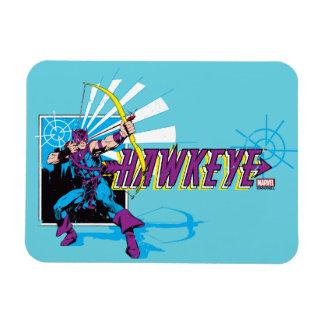 Hawkeye Retro Comic Graphic Rectangular Photo Magnet