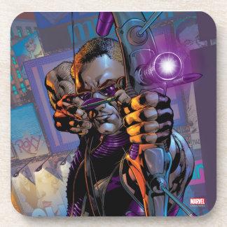 Hawkeye Taking Aim Beverage Coaster