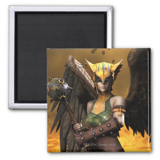 Hawkgirl 2 Inch Square Magnet