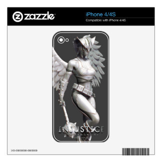 Hawkgirl Decals For iPhone 4