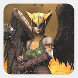 Hawkgirl Pegatina Cuadrada