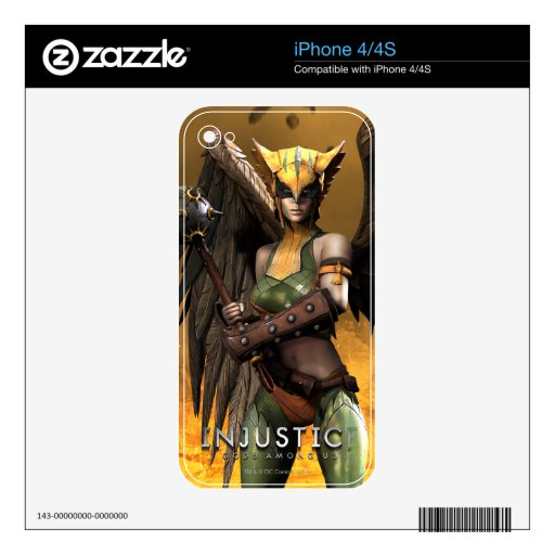 Hawkgirl Skin For iPhone 4S