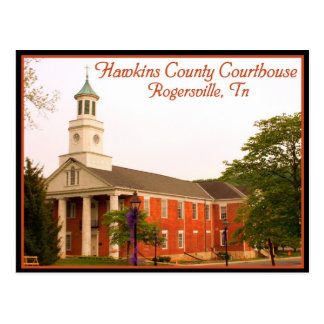 Hawkins county Courthouse - Rogersville, TN Postcard