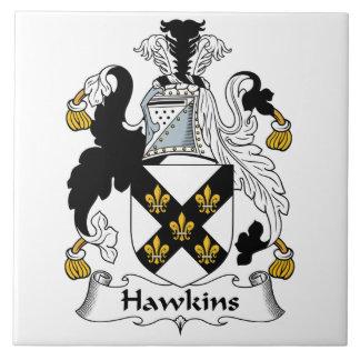 Hawkins Family Crest Ceramic Tile