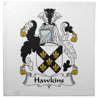 Hawkins Family Crest Napkin