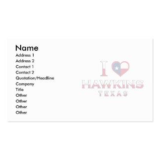 Hawkins, Tejas Plantilla De Tarjeta De Negocio
