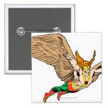 Hawkman Flies Pinback Buttons
