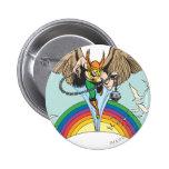 Hawkman Flies Thru Sky 2 Inch Round Button