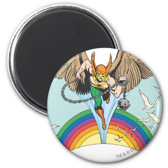 Hawkman Flies Thru Sky Magnet