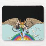Hawkman Flies Thru Sky Mouse Pad