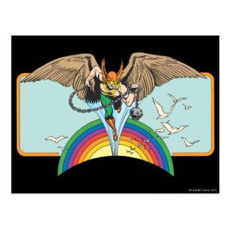 Hawkman Flies Thru Sky Postcard