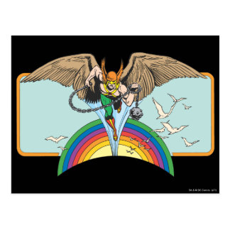 Hawkman Flies Thru Sky Post Card
