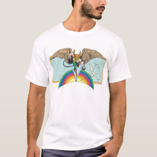 Hawkman Flies Thru Sky T-Shirt