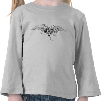 Hawkman Flying Outline Tees