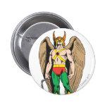 Hawkman Pin Redondo 5 Cm