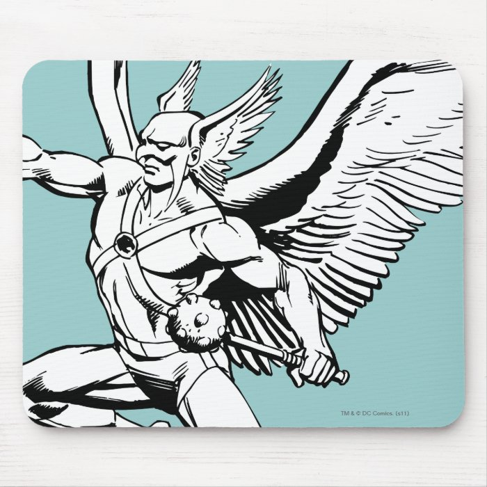 Hawkman Soaring Outline Mouse Pad